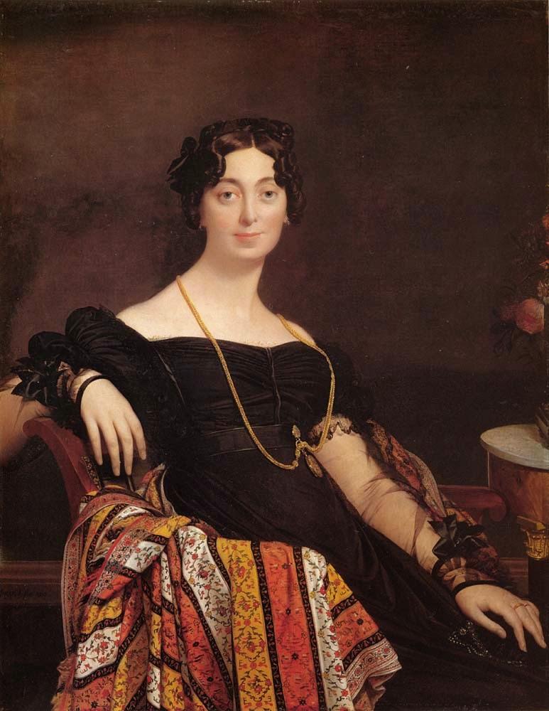 Madame Jacques Louis Leblanc - Ingres e suas principas pinturas ~ Neoclassicismo