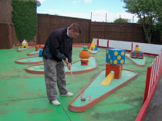 Crazy Golf at the Vegas Amusement Arcade in Hunstanton