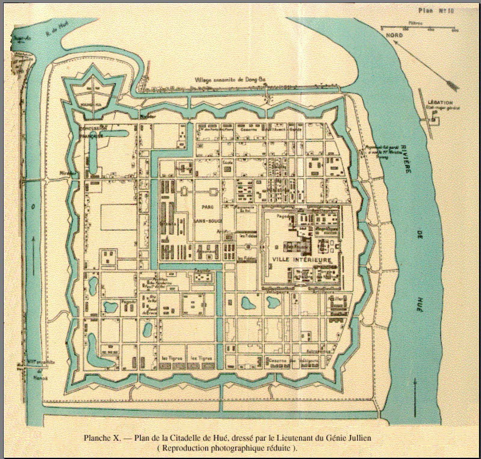 Bản đồ Kinh thành Huế xưa