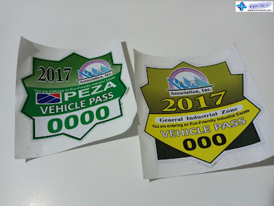 Vehicle Pass - 3M Reflective Stickers