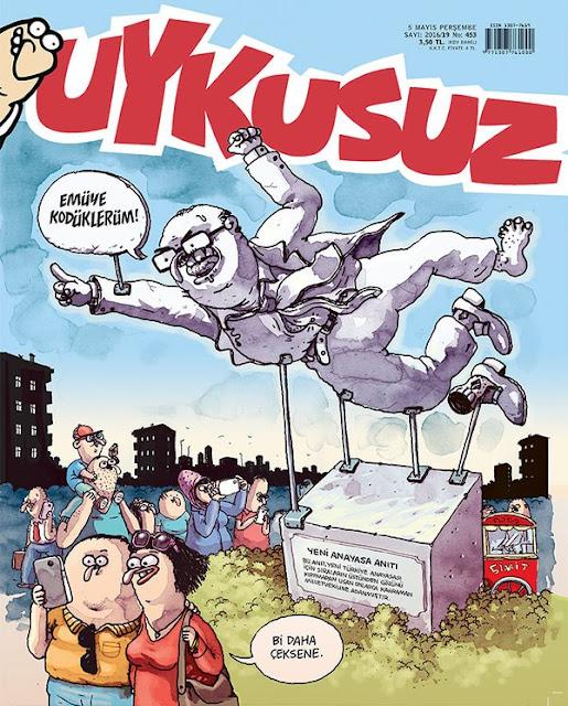 Uykusuz Dergisi - 5 Mayıs 2016 Kapak Karikatürü