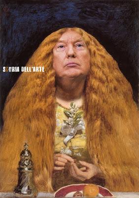 john everett millais the bridesmaid-Donald Trump