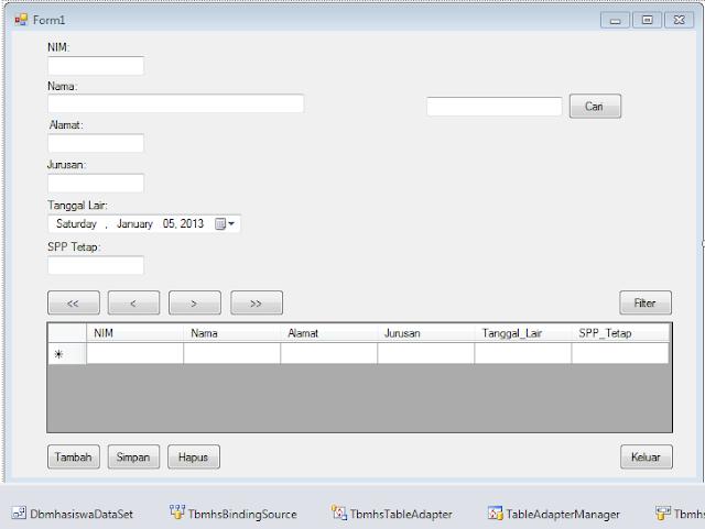 7 - Koneksi Sql Server Dengan Microsoft Visual Studio
