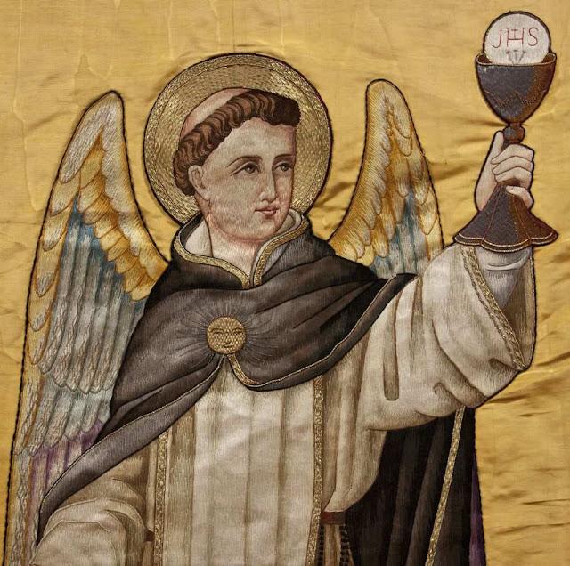 Santo Tomás de Aquino. Bordado em Saint Dominic, Newcastle, Inglaterra