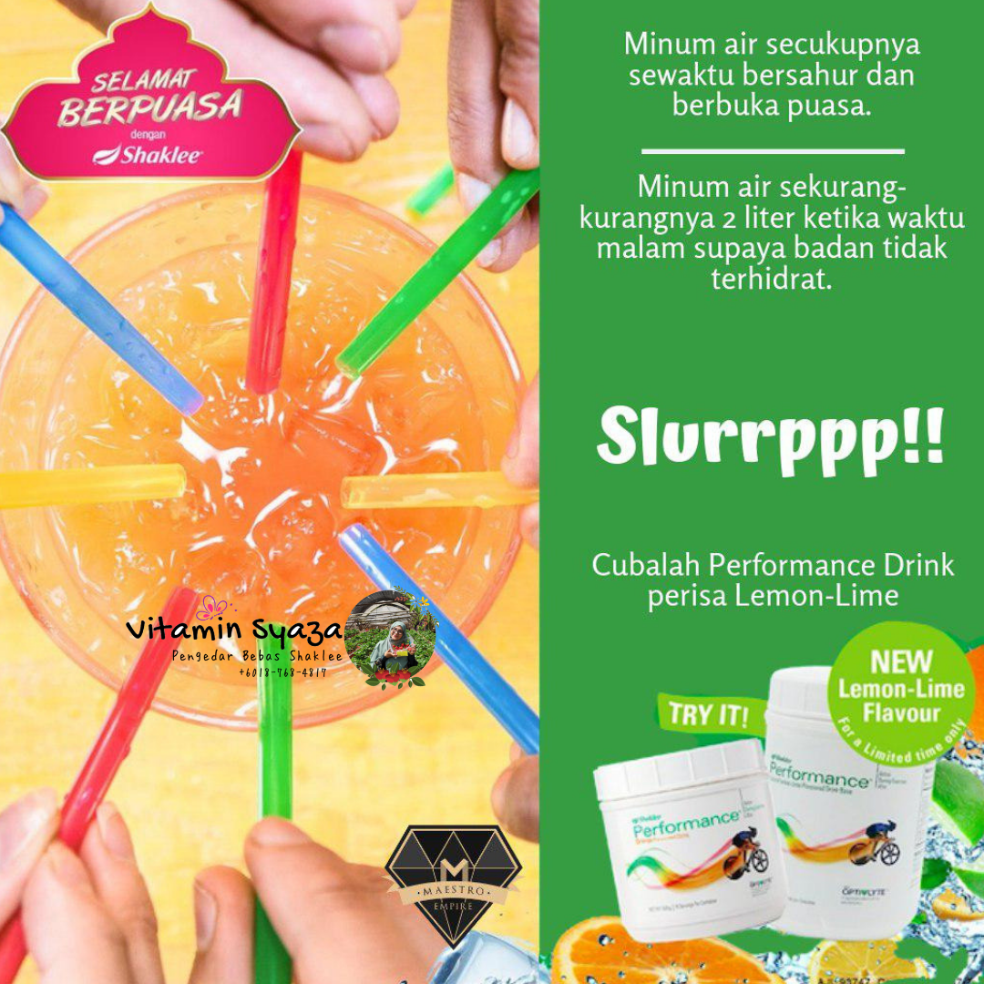 performance drink shaklee perisa lime