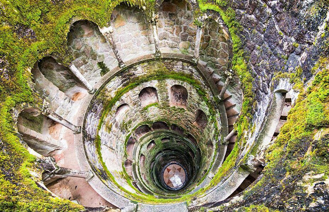 The mesmerising Initiation Wells at the Quinta da Regaleira estate in Sintra, Portugal