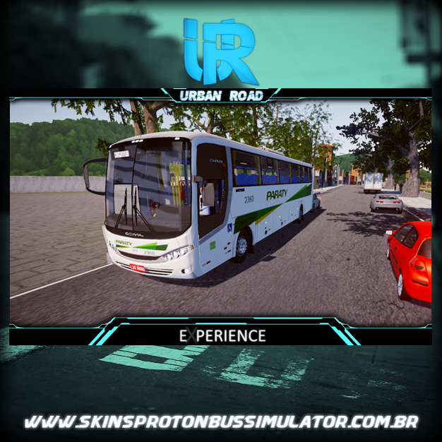 Skins Proton Bus Simulator Road - Comil Campione 3.65 MB 4X2 OF-1721 BT5 Viação Paraty