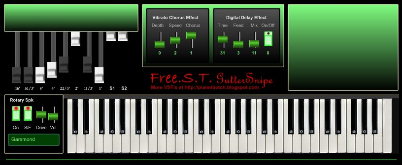 FreeST GutterSnipe VST freeware virtual organ