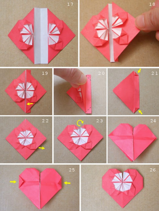 Origami Heart Instructions from Origami (Paper Folding) category ...   742x560