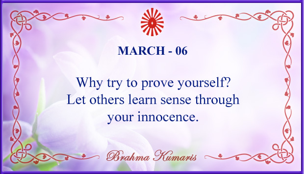 Thought For The Day March 6