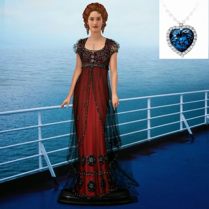 4995c374dc Recently I was given the Danbury Mint Rose Titanic doll. You can tell they  took Kate Winslet s head and photoshopped the entire head and body.