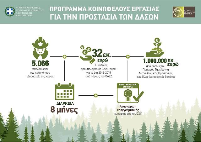 Νέο πρόγραμμα κοινωφελούς εργασίας για την αντιπυρική προστασία των δασών - 225 θέσεις στην Ήπειρο