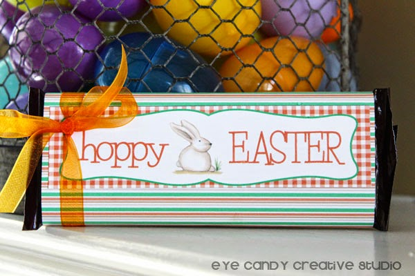 Hershey bar wrappers, hoppy Easter, Easter wrap on Hershey bars