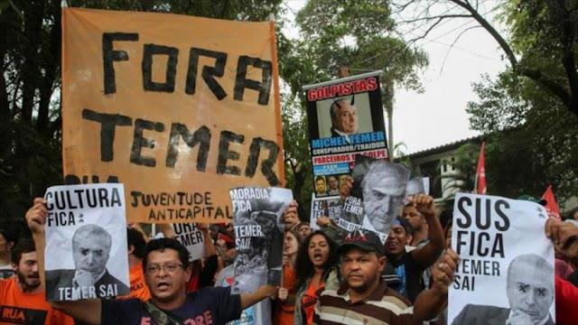 Los sin techo de São Paulo exigen la renuncia de Temer