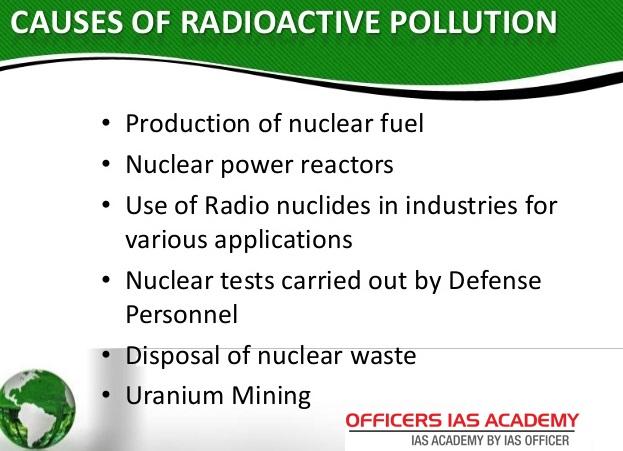 essay on radioactive pollution