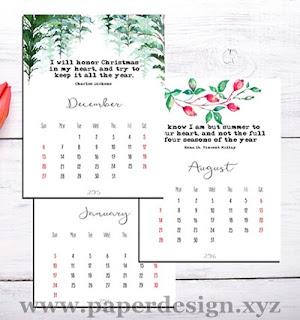Contoh kalender meja | Contoh kalender duduk