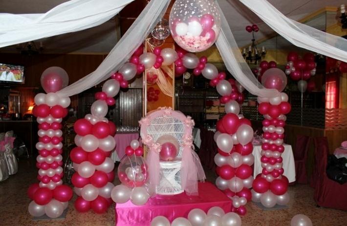 Decoraciones de globos festidecoradiaz for Decoracion de pared para quince anos