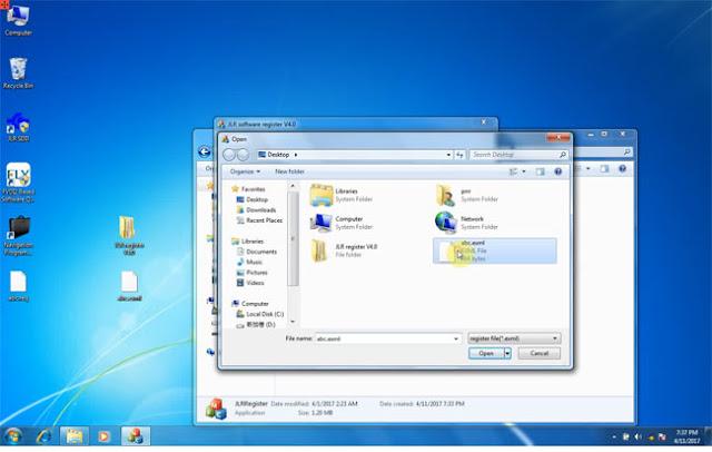 Open abc.exml on desktop