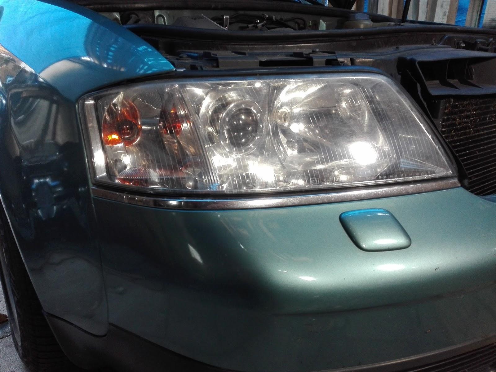Naprawa świateł Samochodowych Przeróbka Lamp Audi A6 Na Bi Led Full Led