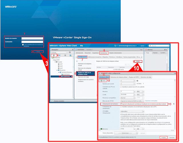 Exponer virtualización asistida por Hardware en el sistema operativo invitado