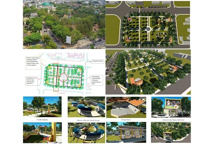 Mengintip Rencana Penataan Taman Merdeka, Dari Koridor Sejarah Hingga Ruang Baca