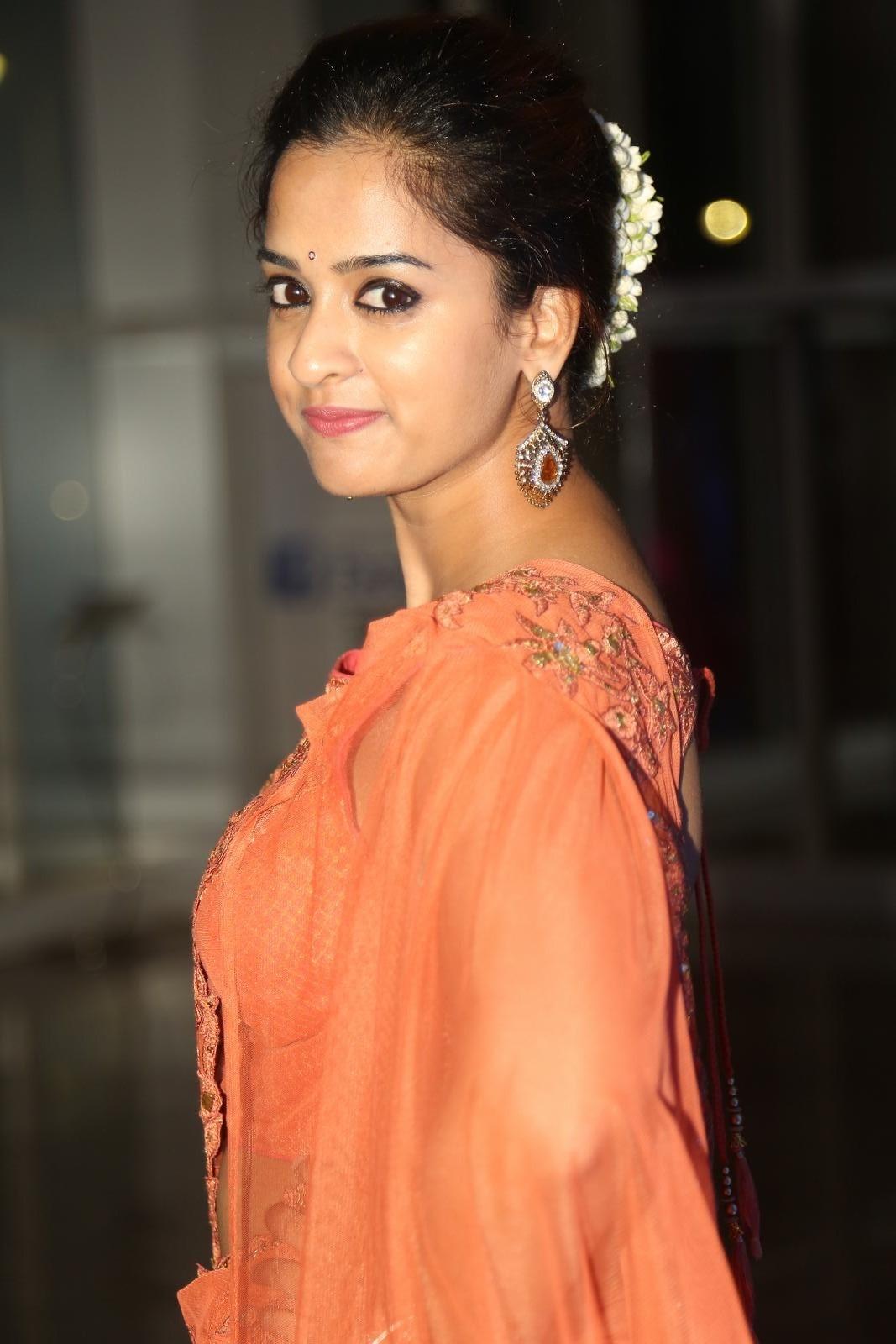Nanditha Hot Stills at Audio Launch In Pink Saree