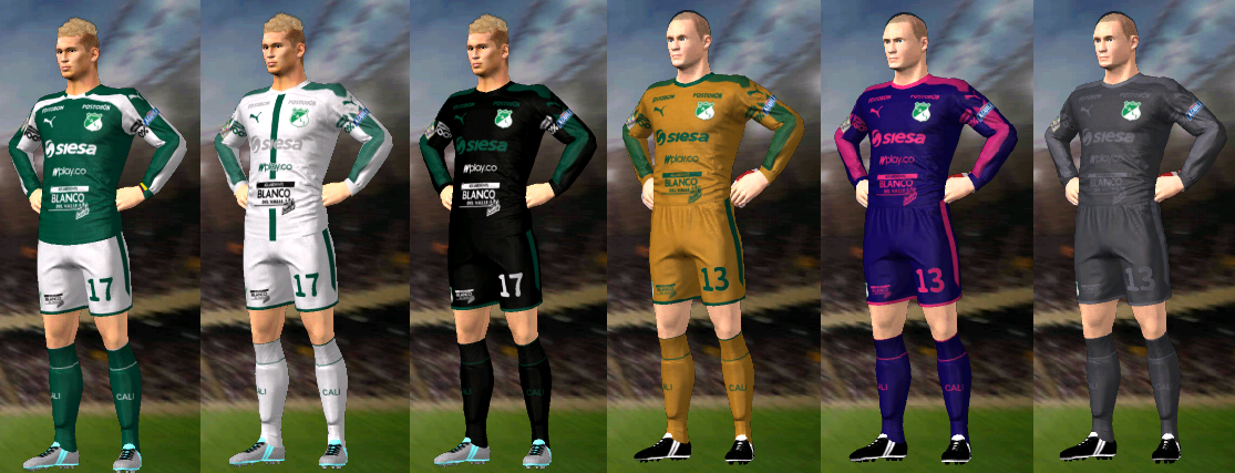 Update, Kits/Uniformes Deportivo Cali