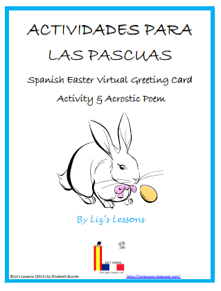 bilingual teacher clubhouse spanish easter voabulary and activities. Black Bedroom Furniture Sets. Home Design Ideas