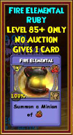 Fire Elemental - Wizard101 Card-Giving Jewel Guide
