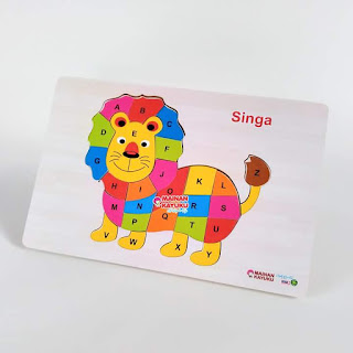 Puzzle Huruf Singa