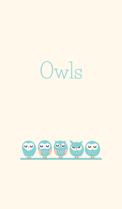 Pastel blue Owls