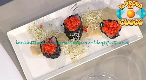 Sushi piemontese ricetta Montersino da Prova del Cuoco