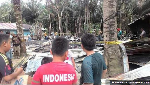 Si Jago Merah Lahap Rumah Warga Aceh Singkil