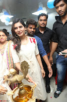 Samantha Ruth Prabhu Smiling Beauty in White Dress Launches VCare Clinic 15 June 2017 076.JPG