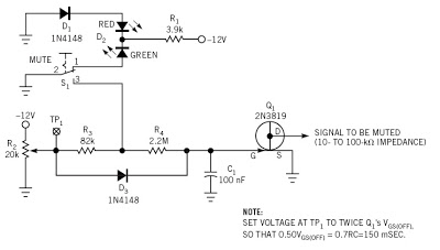 Built a Soft-Action Mute Switch Circuit Diagram