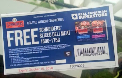 Free product coupon for Schneiders Sliced Deli Meat