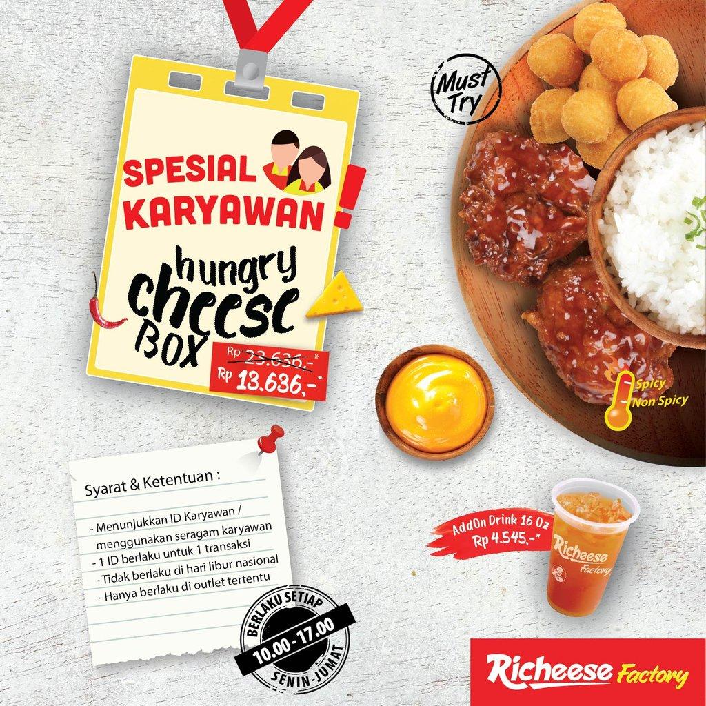 RicheeseFactory - Promo Spesial Hungri Cheese Box Untuk Karyawan Cuma 13 Ribuan