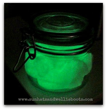 Glow in the dark playdough from Sun Hats and Wellie Boots