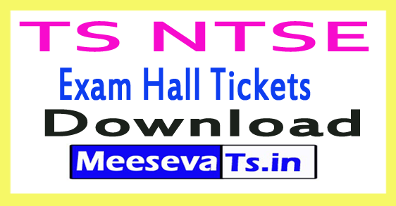 Telangana NTSE Exam Hall Tickets Download Nov-2017