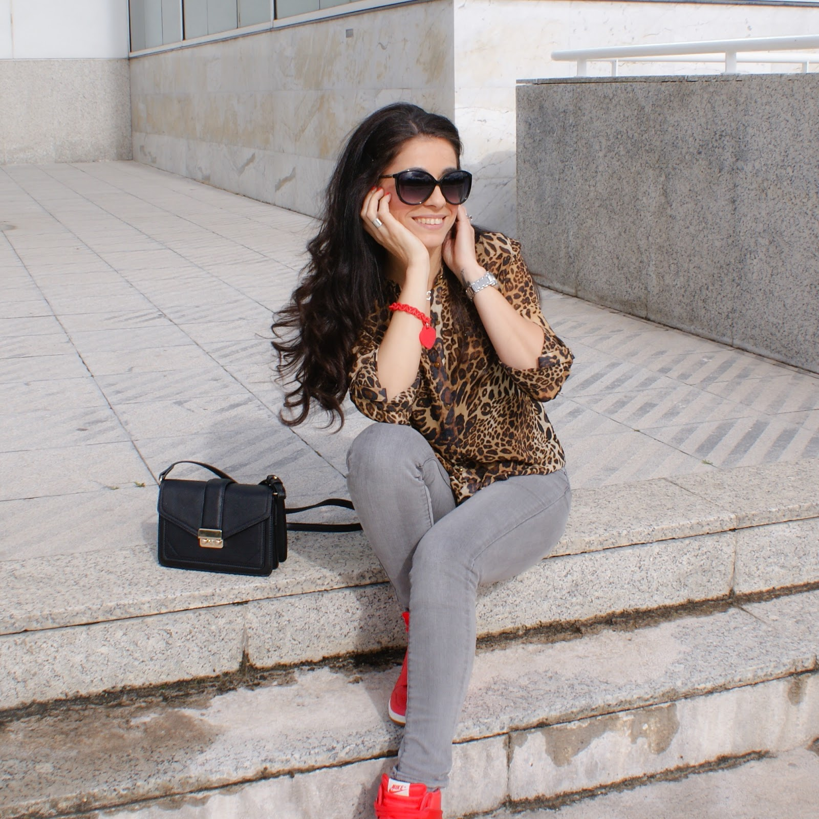 Blog Moda, Look con Zapatillas NIKE Rojas