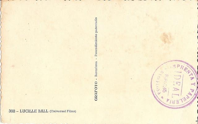 Foto Postal antigua de Lucille Ball