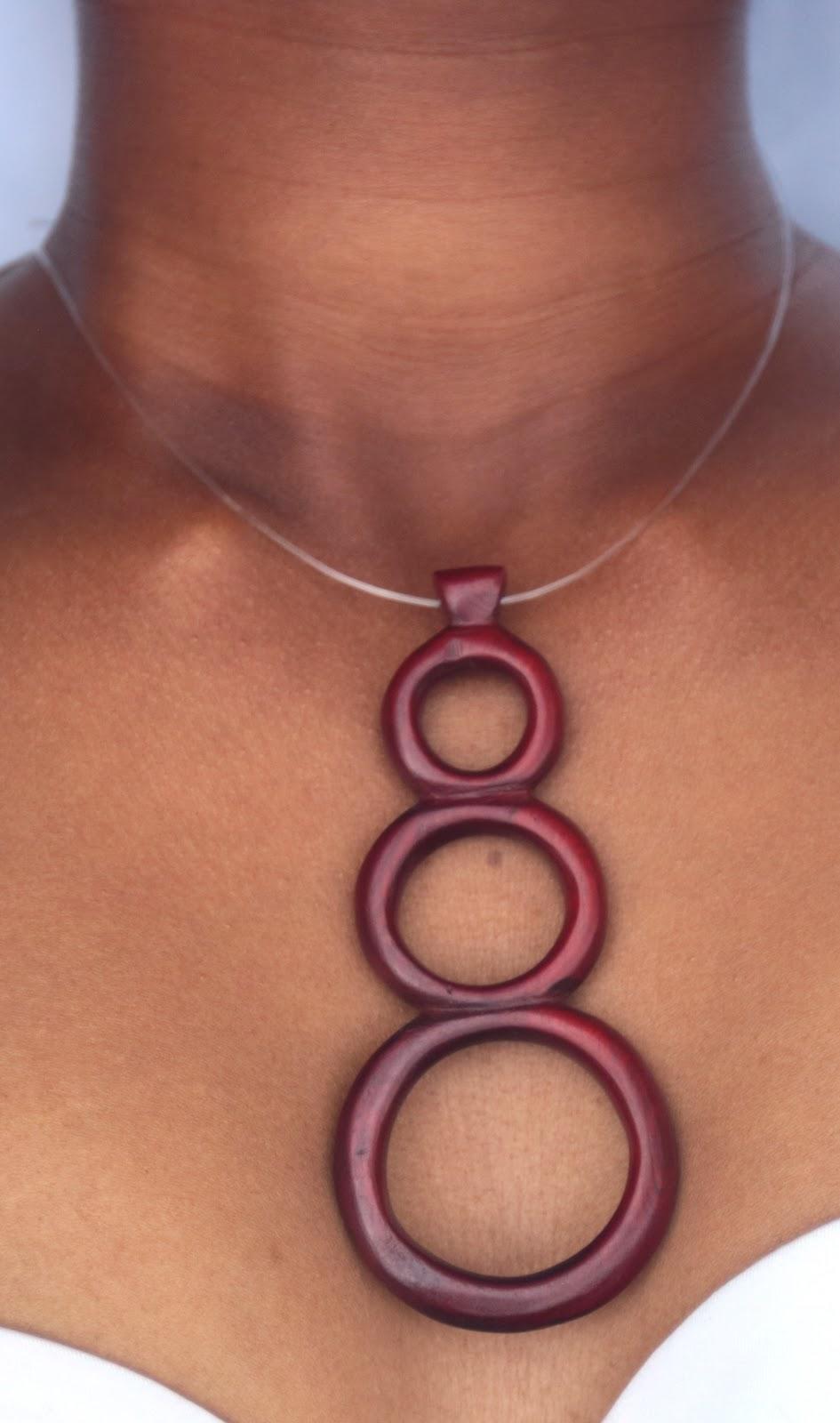 Malik Trinity Wood Necklace/Choker