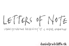 Google+: Letters of Note - I like words