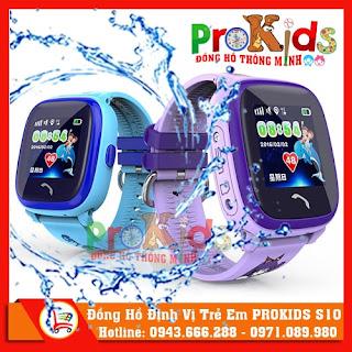 Đồng Hồ Thông Minh Định Vị GPS Prokids S10 (Chống Nước)
