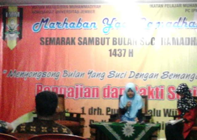 Songsong Ramadhan 1437H, IMM Univ. Jember Ngaji dan Baksos di Ambulu