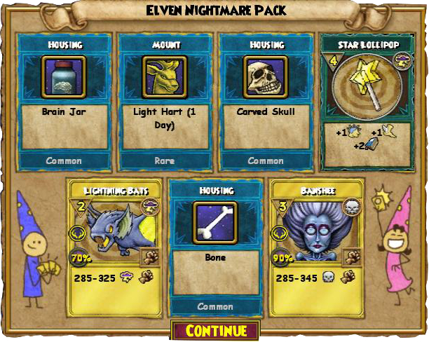 Wizard101 Elven Nightmare Pack Review - Swordroll's Blog