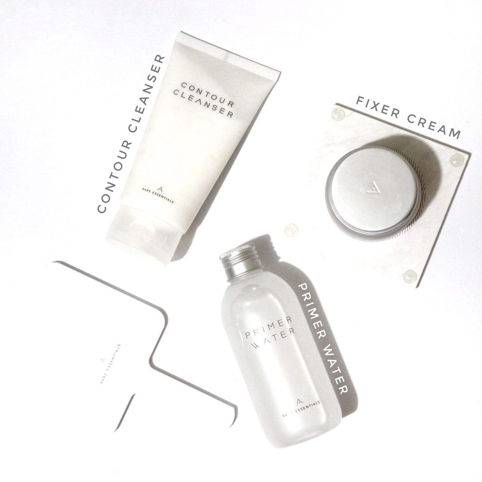 Althea Korea Bare Essentials flatlay (Contour cleanser, primer water, fixer cream)