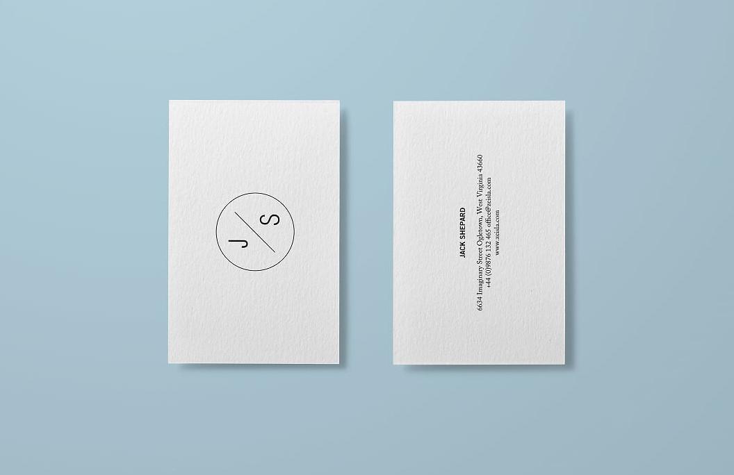 موك اب كروت شخصية رقم 1 Textured_Business_Card_Mock-up