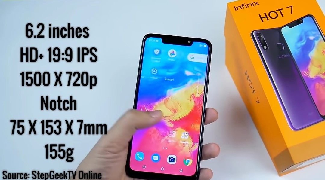 Infinix Hot 7 display size and resolution
