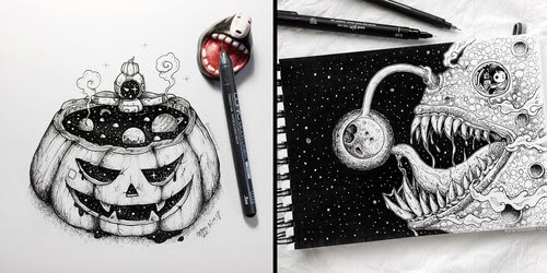 00-Mon-Lee-Ink-Drawings-Mostly-in-Space-www-designstack-co